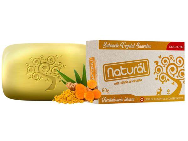 Sabonete Natural Suavetex com Extrato de Cúrcuma